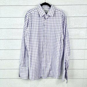 Charles Tyrwhitt Mens Size 18 Slim Fit Dress Shirt